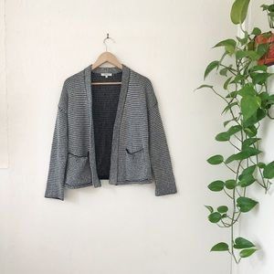 Madewell knit black & white cardigan